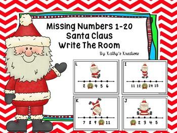 Missing Numbers 1-20  Santa Claus