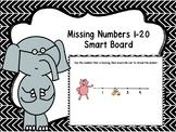 Missing Numbers 1-20 Smart Board