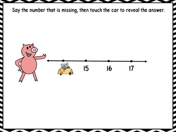 Missing Numbers 1-20 Smart Board
