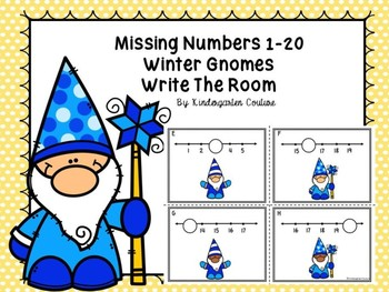 Missing Numbers 1-20 Task Cards - Winter Gnomes