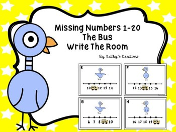 Missing Numbers 1-20 The Bus