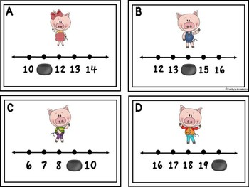Missing Numbers 1-20 The Three Little Pigs