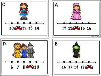 Missing Numbers 1-20 Wizard Of Oz