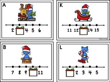 Missing Numbers 1-20 Write The Room Cat's Christmas