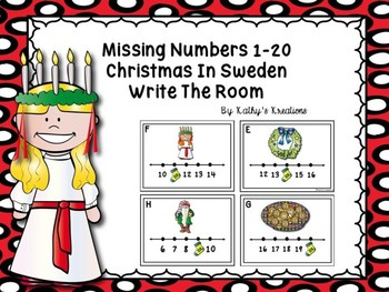 Missing Numbers 1-20 Write The Room Christmas In Sweden
