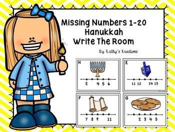 Missing Numbers 1-20 Write The Room Hanukkah