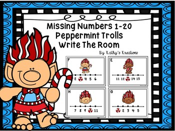 Missing Numbers 1-20 Write The Room Peppermint Trolls