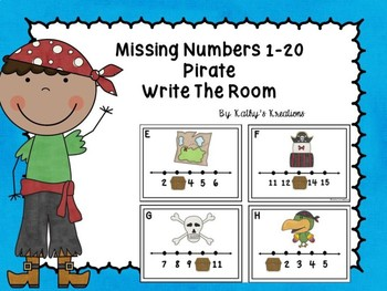 Missing Numbers 1-20 Write The Room Pirate