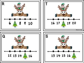 Missing Numbers 1-20 Write The Room Reindeer