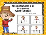 Missing Numbers 1-20 Write The Room Scarecrows