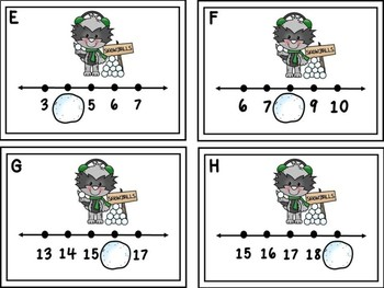 Missing Numbers 1-20 Write The Room -Snowballs