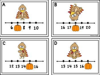 Missing Numbers 1-20 Write The Room -Turkeys