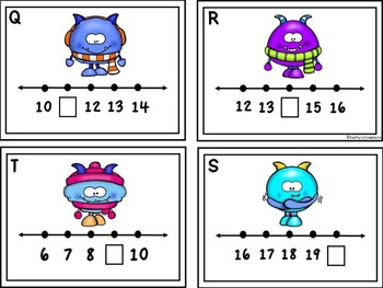 Missing Numbers 1-20 Write The Room Winter Monsters