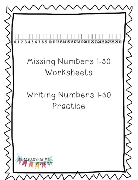 Missing Numbers 1-30 with Number Line