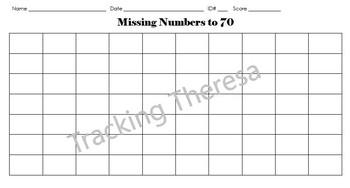 Missing Numbers 1-70 Bundle