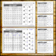 Missing Numbers 1 to 20 Hundreds Chart Math Worksheets