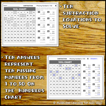 Missing Numbers 1 to 50 Worksheets