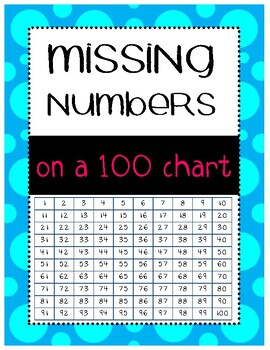 Missing Numbers 100 Chart Common Core