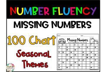 Missing Numbers- 100 Chart (Seasonal)