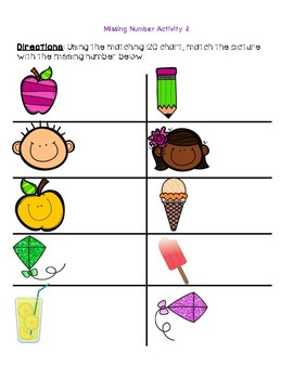 Missing Numbers- 120 Chart Activity