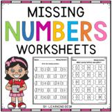 Missing Numbers Worksheets For Kindergarten