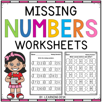 Missing Numbers Worksheets