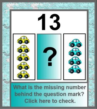 Missing Numbers Activity Subatizing Lesson