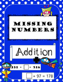 Missing Numbers Addition {Missing addends and sums}