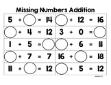 Missing Numbers (Addition, Subtraction, Multiplication, Division)