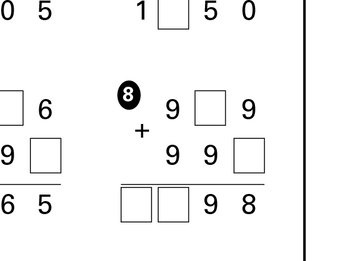 Missing Numbers Addition Worksheet