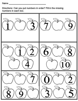 Missing Numbers  - Apple themed