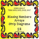 Missing Numbers Arrays Strip Diagrams 24 Each