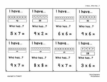 Missing Numbers Arrays Strip Diagrams 24 Each by Joyce ...