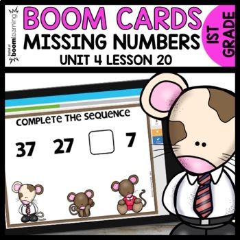 Missing Numbers BOOM CARDS | DIGITAL TASK CARDS | Module 4 Lesson 20