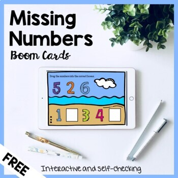 Missing Numbers Boom Cards | Distance Learning