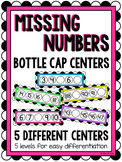 Missing Numbers Bottle Cap Centers