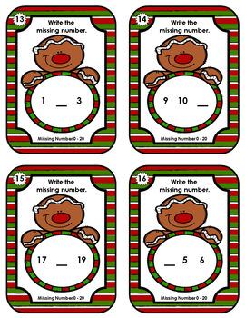 Missing Numbers  •  Christmas Gingerbread Man