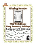 Missing Numbers - Counting ~ One Work Sheet ~ Many Seasons