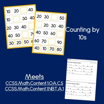 Missing Numbers, Counting by 2s, 5s, 10s