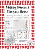 Missing Numbers - Dinosaur theme