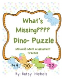 Missing Numbers Dinosaurs (MClass Assessment)