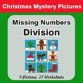 Missing Numbers Division - Color-By-Number Christmas Math Mystery Pictures