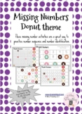 Missing Numbers - Donut theme