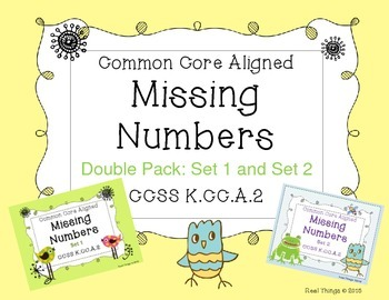 Missing Numbers Double Pack: Set 1 and Set 2