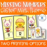 Missing Numbers Easter Theme