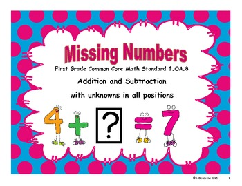 Missing Numbers 1.OA.8