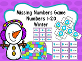 Missing Numbers Game (Numbers 1-20) -Winter