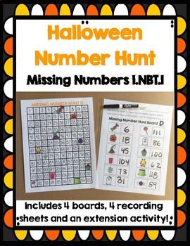 Missing Numbers Halloween Center NBT.1