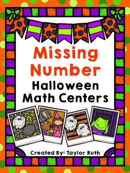 Missing Numbers Halloween Math Center