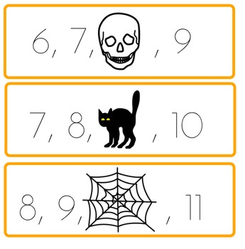 Missing Numbers: Halloween Theme